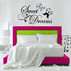 Sweet Dreams Butterflies Leaf Vinyl Art Home Wall Room Quote Decal Sticker Decor