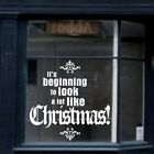MERRY CHRISTMAS wall quote personalised shop window sticker decoration art vinyl