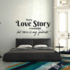 Love Story Vinyl Art Home Style Wall Bedroom Room Quote Decal Sticker Decoration