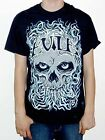 "Evile ""Blue Skull"" T-shirt - NEW OFFICIAL infected nations five serpents teeth"