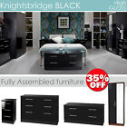 KNIGHTSBRIDGE High gloss furniture, chest of drawers, locker, wardrobe, bedside