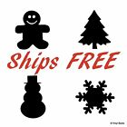 Vinyl Chalkboard Labels Christmas Snow Winter - Decal Sticker Lot Gift Tag Black