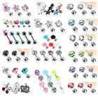 NEW Set of Assorted Tragus / Cartilage / Helix Bars - Choose Design - 16g 6mm