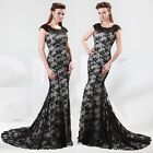 Black Sexy Women's Formal Evening Party Ball Bridesmaid Prom Gown Long Dresses