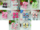 ONE PAIR Lovely Heart Pattern Bow Barrettes kids Hair Clips,Baby/Girl/Toddler