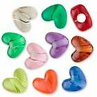 Approx 50 or 100 Mixed Transparent Hearts Pony Beads (PBHM-TRA)