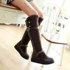 Women ladies high platform heel knee high boots warm winter snow shoes JBL7