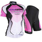 Women's Cycling Bicycle Comfortable outdoor Jersey + Shorts Size S - XXL