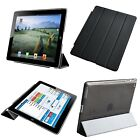 Ultra Thin BLACK Front Stand Cover Apple iPad 2 iPad 3 Magnetic PU Leather Smart