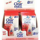CLEAR EYES DROPS REDNESS RELIEF 0.2 OZ.6 ML - 2/4/6/12/24/48/60 Packs You Choose