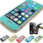New Anti-shock Color tempered bullet proof Glass film case for iPhone 5/5S/5C