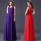Elegant Evening Long Dress Wedding Party Cocktail Long Ball Gown 2Colors UK SIZE