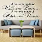 A HOUSE IS MADE OF wall quote lounge bedroom walls sticker art mural vinyl decal