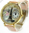 black paris tower Mini polymer clay watch fashion ladies woman Quartz waterproof