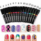 New Nail Art Pen Painting Design Tool 16 colors to Choose Drawing Gel Easy Made