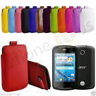Small Premium PU Leather Pull Tab Case Cover Pouch For Acer Liquid Z2