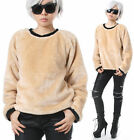 RTBU Punk Rock Teddy Sarpei Faux Fur Velvet Furry Boyfriend Sweatshirt Jumper