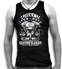 Biker  USA Lucky 7 Genuine Classic Mens Sleeveless Muscle T Tank Top Vest
