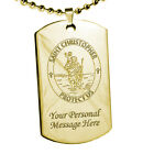 Personalised St Saint Christopher Dog Tag Motorists Travellers Protection Prayer