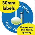 30mm Personalised stickers 'Chemistry' School Science tools Teacher Award label