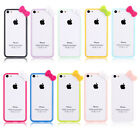 Cute Hello Kitty Bowknot Bow PC Bumper Frame Cover Skin Case for Apple iPhone 5C