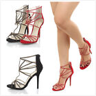 Wild Diva ADELE-34 Womens Studded Open Toe Heels Fashion Women Shoes