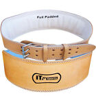 """Leather Weight Lifting Belt Body Building Gym Training Back Support Belt 4"""" WIDE"""