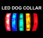 Flashing or Static LED Safety Adjustable Nylon Novelty Dog Puppy Pet Collar