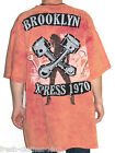 Brooklyn Xpress Shirt New Mens Patch Print Studs Red Washed Tee Choose Size