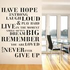 HAVE HOPE BE STRONG wall sticker laugh loud giant large quote mural decal vinyl