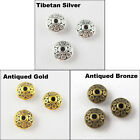 70Pcs Tibetan Silver Gold Bronze Tone Tiny Spacer Beads Charms 7mm P074