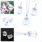 Lovely gift box cube necklace earrings multiple choices