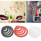 1× 3D Circles Ring DIY Art Wall Stickers Room Wall Home Decor Removable