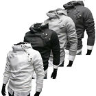Winter Warmth Mens Slim Fit Coats Jacket Top designed Hoodie Side Zip Hoodies PJ