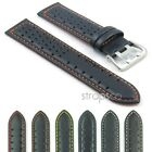 StrapsCo GT Rally Tropic Leather Watch Band Mens Strap Perforated Holes
