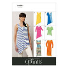 Vogue V8881 Sewing Pattern Misses' Pullover Top Sleeved/Sleeveless - Options