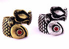 vintage antique retro style carp goldfish fish ring biker goth multiple choices