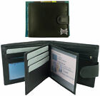 Mens Quality Soft Black Leather Wallet - 10 C/Cards, 2 Windows & 2 Note Sections