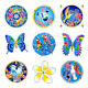 ILLUMINATION MANDALAS SUNSEAL WINDOW STICKER / DECAL - Birds Butterflies Flowers