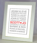 A4 Personalised Couples in Love Print. Wedding Anniversary Christmas Gift