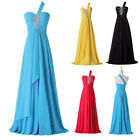 Sexy Stunning One Shoulder Formal Party Evening Cocktail Prom Full Length Dress