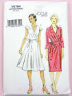 Vogue V8784 Sewing Pattern Misses' Dress - Lined Wrap Dresses - Very Easy