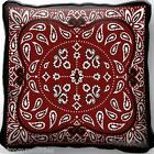 Country Western Bandana Design Art Tapestry Pillow Jacquard Woven Cotton