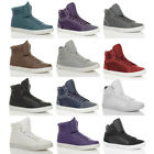 MENS FLAT LACE UP BASEBALL CASUAL HI HIGH TOP ANKLE BOOTS TRAINERS SNEAKERS SIZE