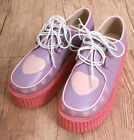 "Leather Unique Japan Cutie Kawaii Decora Pastel Heart Creeper Oxford 2"" Platform"