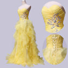2014 STOCK Formal Party Evening Dress Quinceanera Ball Gown Pageant Prom Dresses