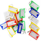 Key Tags ID FOB Tag Ring Plastic Name Label Holder Office Lock Luggage Assorted