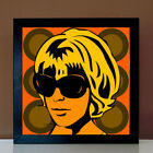 Seventies-Girl Retro Lounge Design Poster 60er 70er Jahre Motto Party Portraits