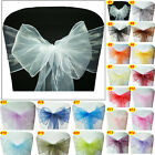 22x280cm Organza Sashes Chair Cover Sash Bow Wedding Banquet Party Decoration
