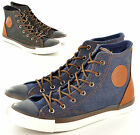 New Men's Boys High Hi Top Trainers Canvas Shoes Ankle Boots In UK Sizes 6-11
